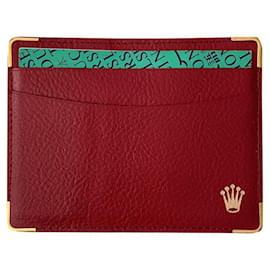 Rolex-Rolex card holder-Red