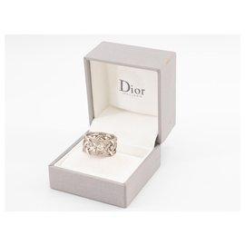 Dior-Bague My Dior en or blanc de 18ko sertie des diamants taille brillant.-Argenté