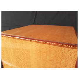 Hermès-Hermès Storage Chest for Scarves or Jewelry in wood and Leather Rare-Light brown
