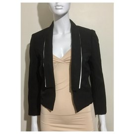 Balenciaga-Cropped tux style jacket-Black