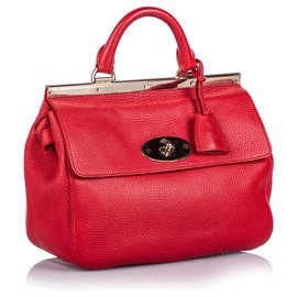 Mulberry-Mulberry Red Small Leather Suffolk Satchel-Red