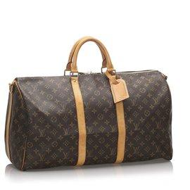 Louis Vuitton-Bandoulière Keepall Louis Vuitton Monogram Marron 50-Marron