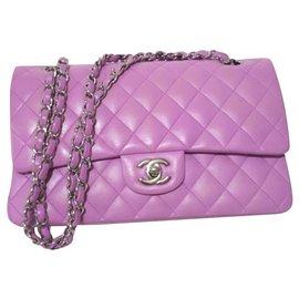 Chanel-Sac à rabat moyen classique lilas rose Chanel-Rose
