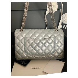 Chanel-Reissue 2.55 Distressed calf leather 226-Silvery