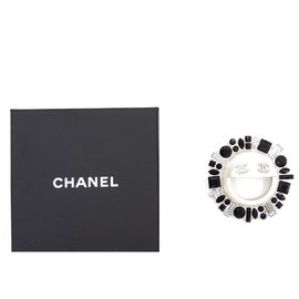 Chanel-Chanel Cc Smile Sun Crystals Silver Hardware Brooch Pin Charm-Other