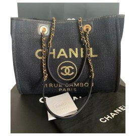 Chanel-Deauville-Navy blue