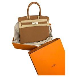 Hermès-Birkin 30 togo gold-Beige