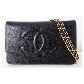 Chanel-Wallet on Chain Chanel-Black