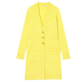 Chanel-YELLOW CASHMERE FR36/40-Yellow