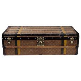 Louis Vuitton-Superb Louis Vuitton Cabin trunk in monogram woven canvas, CIRCA 1900-Brown