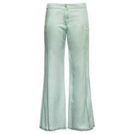 Chanel-Shanghai silk pants-Blue