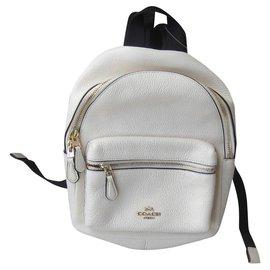 Coach-Backpacks-Eggshell