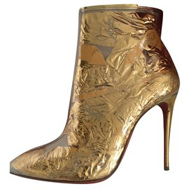 Christian Louboutin-Ankle Boots-Golden
