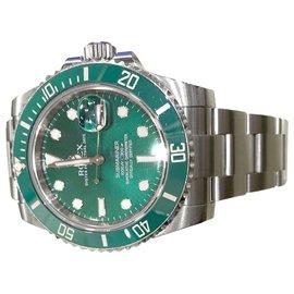"""Rolex-Montre Rolex """"Submariner-Hulk"""" en acier.-Autre"""