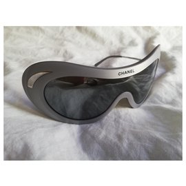 Chanel-Chanel glasses mask-Silvery