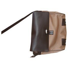Montblanc-Bags Briefcases-Brown,Beige