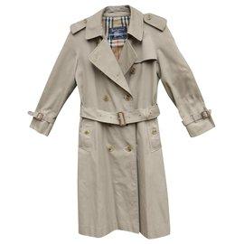 Burberry-vintage Burberry women's trench coat 36/38-Beige