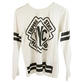 Philipp Plein-Philipp Plein Junior White with black Cotton longsleeve shirt for boys or girls-Black,White