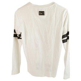 Philipp Plein-Philipp Plein Junior Blanc avec chemise à manches longues en coton noir pour garçon ou fille-Noir,Blanc