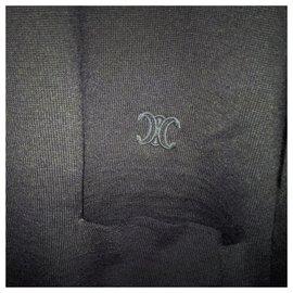 Céline-70% Wool, 30% silk. Embroidered blazon.-Navy blue