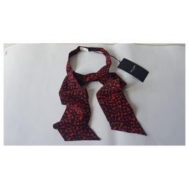 Saint Laurent-Scarves-Black,Red