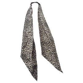 Saint Laurent-Scarves-Black,Beige
