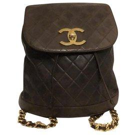 Chanel-Backpacks-Brown