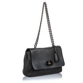 Mulberry-Mulberry Black Leather Lily-Black,Silvery