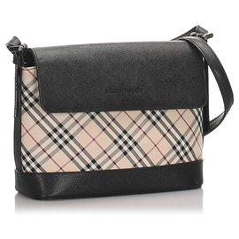 Burberry-Burberry Brown Nova Check Canvas Shoulder Bag-Brown,Black,Beige