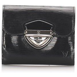 Louis Vuitton-Portefeuille Louis Vuitton Black Epi Electric Joey-Noir