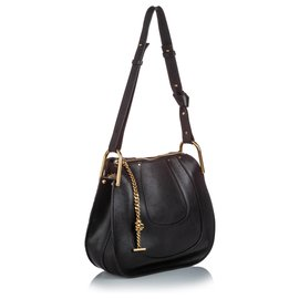 Chloé-Chloe Black Leather Hayley-Black