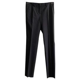 Moncler-Pantalon habillé et chic-Bleu Marine