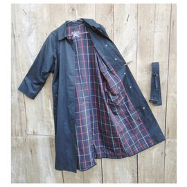 Burberry-Burberry woman raincoat vintage t 38/40-Navy blue