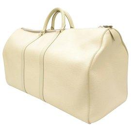 Louis Vuitton-Louis Vuitton Keepall 55-Blanc