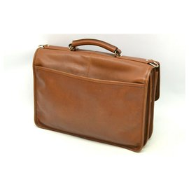 Coach-Coach Leather Business Bag-Brown