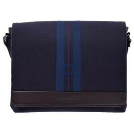Salvatore Ferragamo-Salvatore Ferragamo Vintage Shoulder Bag-Blue