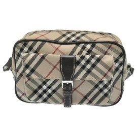 Burberry-Burberry Canvas Shoulder Bag-Beige