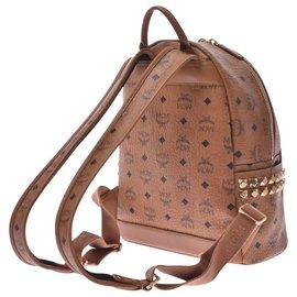 MCM-MCM Backpack mini side studs-Brown