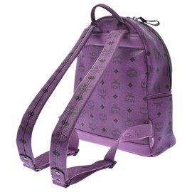 MCM-MCM Backpack studs-Purple