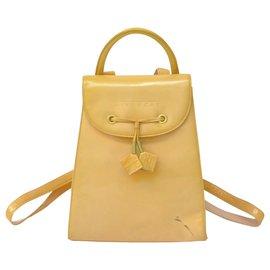 Givenchy-Givenchy Enamel Backpack-Beige