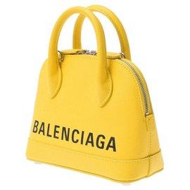 Balenciaga-Balenciaga Ville Top-Yellow