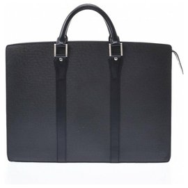 Louis Vuitton-Sacoche Louis Vuitton Taiga-Noir