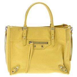 Balenciaga-Balenciaga Paper mini 2WAY bag-Yellow
