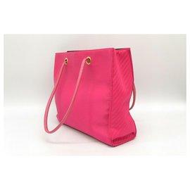 Yves Saint Laurent-Yves Saint Laurent Nylon Shoulder  Tote Hand Bag-Pink