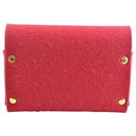 Hermès-Hermès Pouch-Red