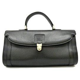 Burberry-Burberry Leather Satchel bag-Black