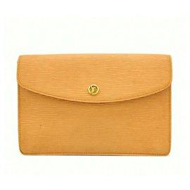 Louis Vuitton-Louis Vuitton Epi Leather Clutch Second Bag Montaigne-Beige