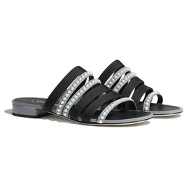 Chanel-CHANEL SANDALS MULES BRAND NEW-Black,Grey