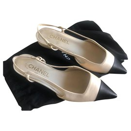 Chanel-CHANEL SLINGBACK BRAND NEW WITH dustbag-Beige