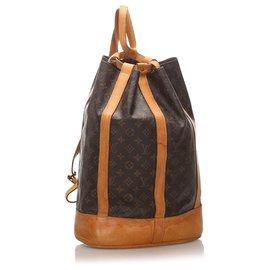 Louis Vuitton-Louis Vuitton Brown Monogram Randonnee GM-Brown